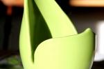 Ljuslykta i stengods, limegrön liten Kalla