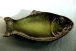 Fiskfat mellanstorlek i lime/svart stengods