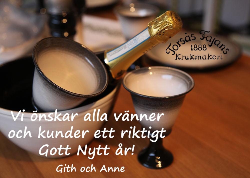 """Nya muggar/koppar/""""glas"""" i stengods från Torsås Fajans krukmakeri"""