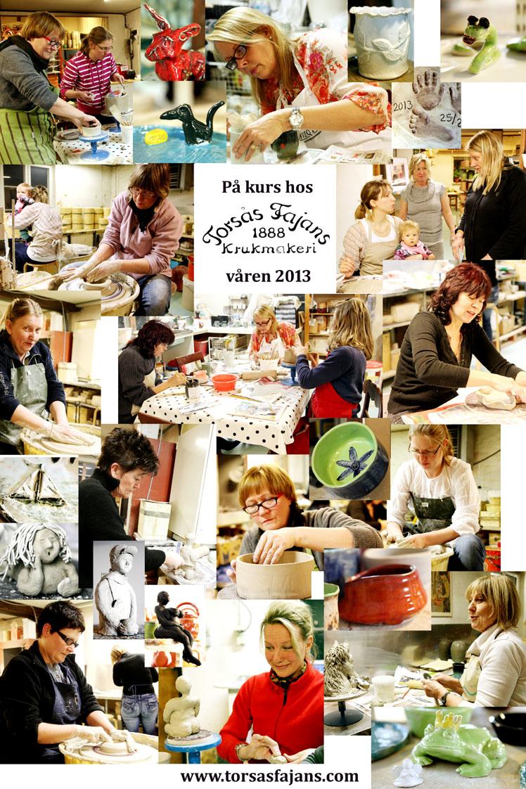 Kurs i keramik på Torsås Fajans krukmakeri